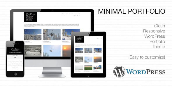 Minimal Portfolio WordPress theme preview